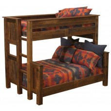 Barnwood Offset Bunk Beds Fireside