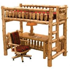 Fireside Lodge Cedar Log Single Loft Bed