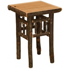 Fireside Traditional Hickory Open Nightstand