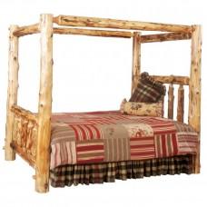 Fireside Lodge Canopy Log Bed