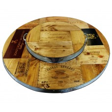 Vintage Wood Tray - Vin De Flame