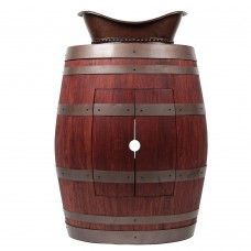Wine Barrel Vanity Package with Bath Tub Vessel Sink
