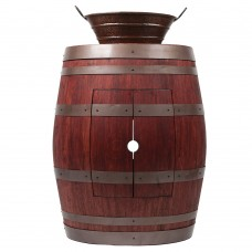 "Wine Barrel Vanity 16"" Oval Bucket"