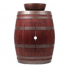 "Wine Barrel Vanity 15"" Round Vessel Sink"