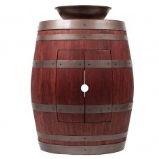 "Wine Barrel Vanity 15"" Round Wired Rim Vessel Sink"