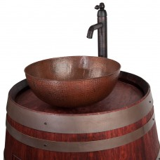 "Premier Copper Round Vessel 15"" Sink and Vessel"