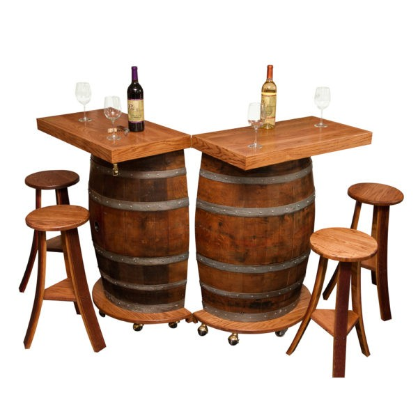 Wine Barrel Portable Folding Bar Napa East