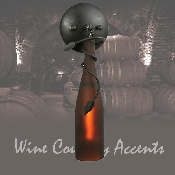 104484 Tuscan Wine Bottle Sconce