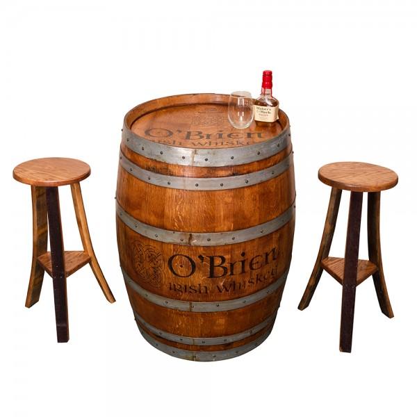 Irish Pub Whiskey Barrel Set