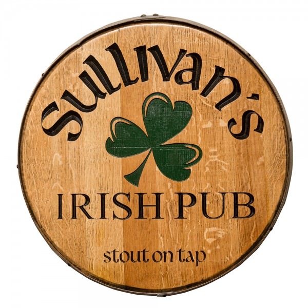 Shamrock Personalized Whiskey Barrel