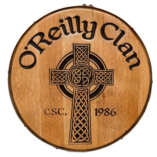 Celtic Cross Whiskey Barrel Head
