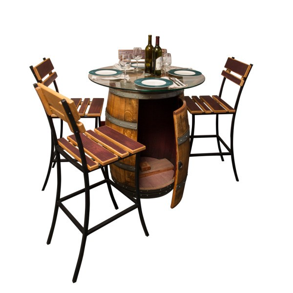 Model:1089 Sonoma Wine Barrel Outdoor Patio Set Napa