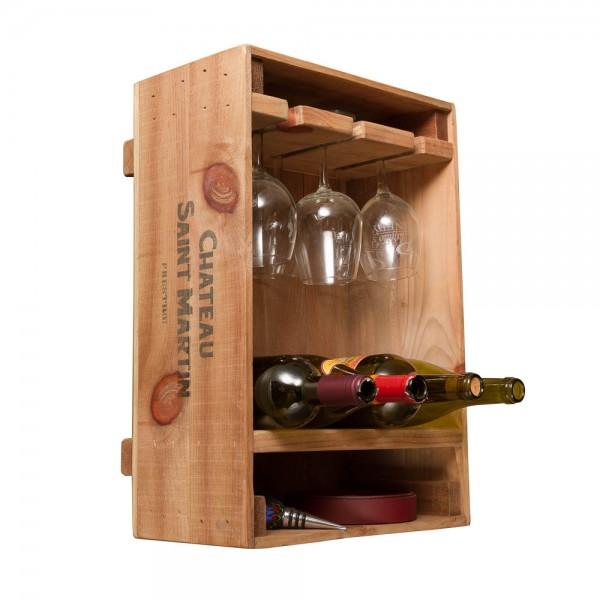 Wine Crate Combo Glass & Bottle Rack Napa East