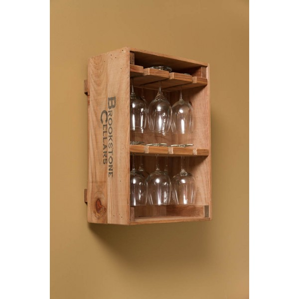 Wine Crate 12 Wine Glass Holder Napa East Wine Country