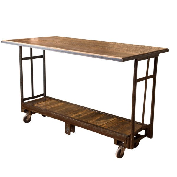 Rolling Industrial Vintage Cart Pub Table Napa East