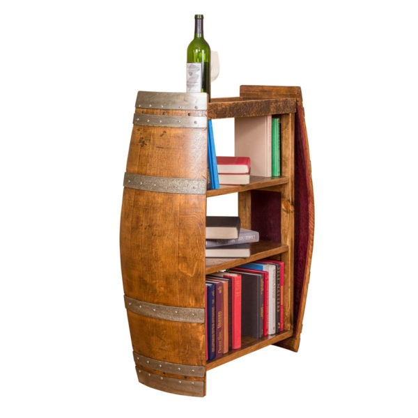 Wine Barrel End Bookshelf