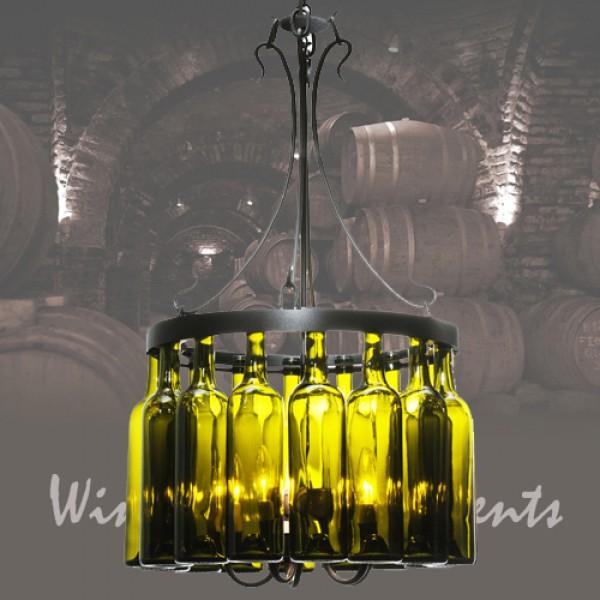 114514 Tuscan Wine Bottle Chandelier