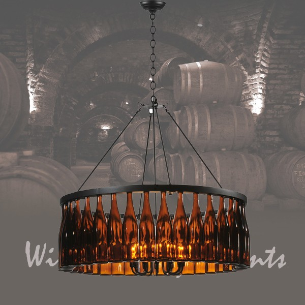 119239 Tuscan Wine Bottle Chandelier