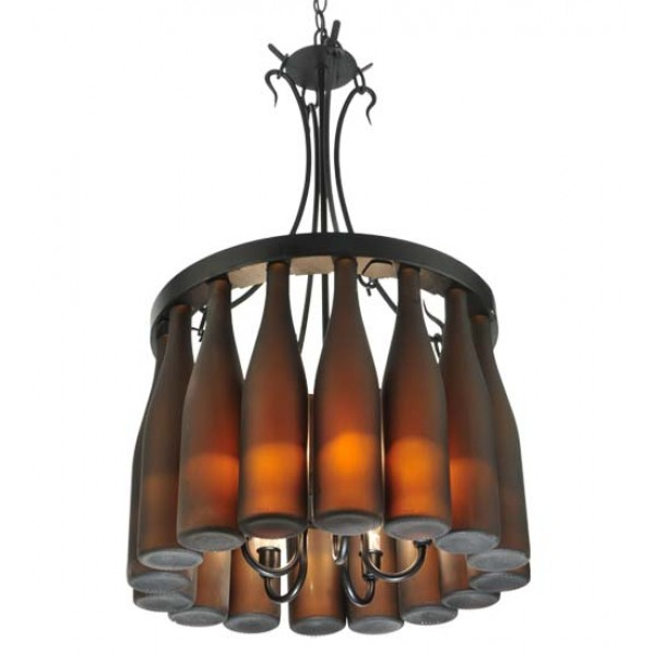 "133651 18""W Tuscan Wine Bottle Chandelier"