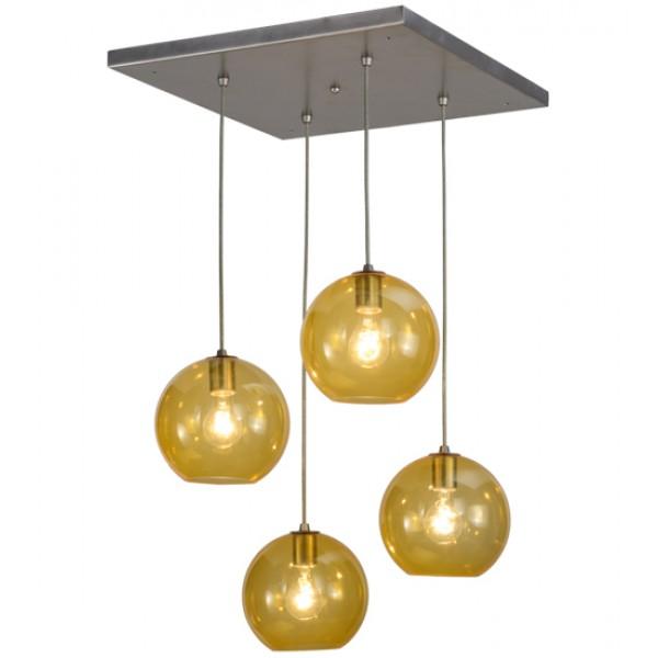 Amber Glass Bola Cascading Pendants