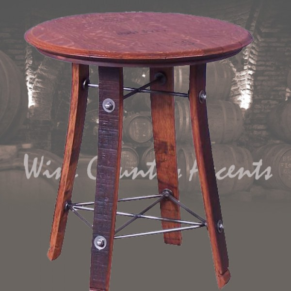 158 Wine Barrel Side Table