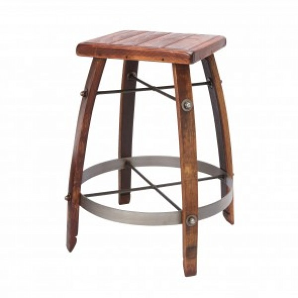 Wine Barrel Bar Stools With Wood Tops 2 Day Designs