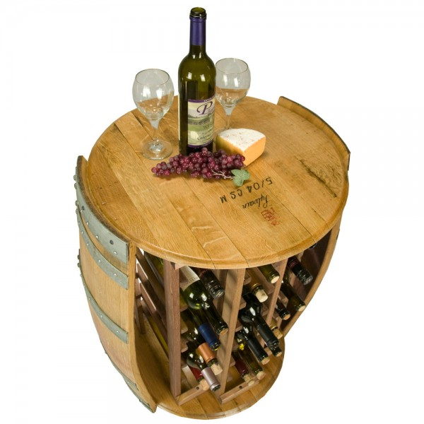28 Bottle Round Wine Rack Napa East