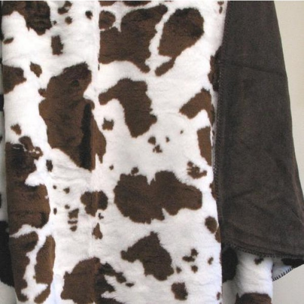 Brown and White Cow Blanket