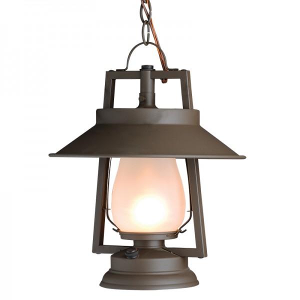 752-S-S-4 Chain Mount Rustic Lantern
