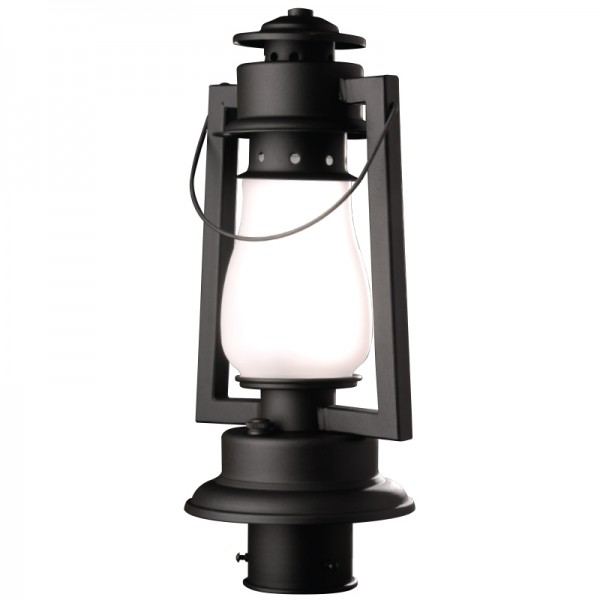 772-S-3 Pioneer Post Mount Rustic Lantern