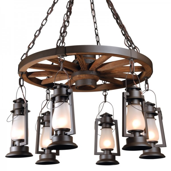 772-S-46 Wagon Wheel Chandelier