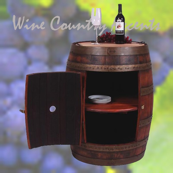 891 Full Wine Barrel Cabinet