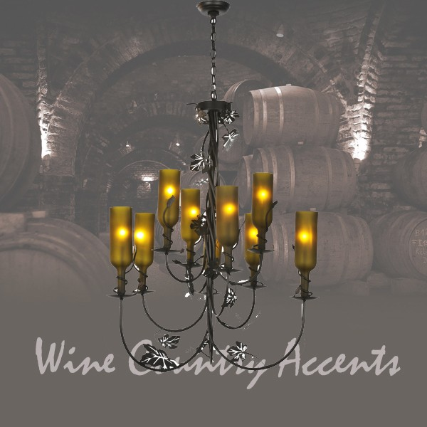 99035 Tuscan Wine Bottle Chandelier