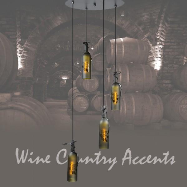 99824 Wine Bottle Pendant Shower