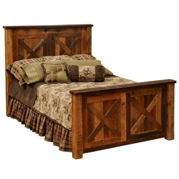Barnwood Barndoor Bed
