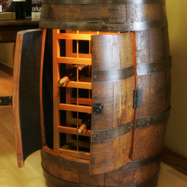 The Oak Barrel Company Wine Barrel Wine Rack Bar Wine