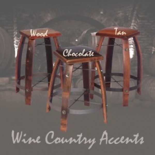 2 Day Designs Wine Barrel Bar Stools Tan Or Chocolate