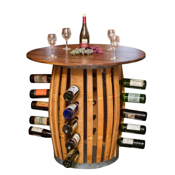 Stave and Hoop Wine Rack Table