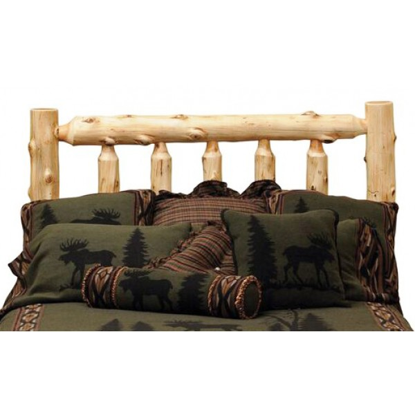 Traditional Cedar Log Headboard Fireside
