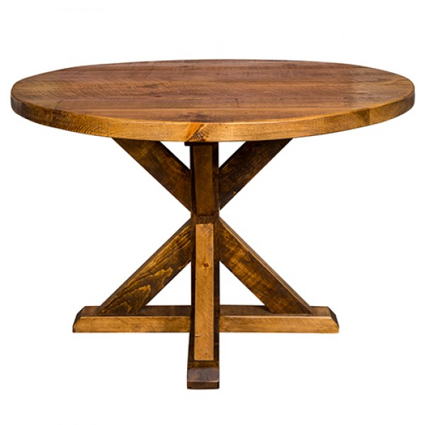 Industrial Round Reclaimed Wood Table