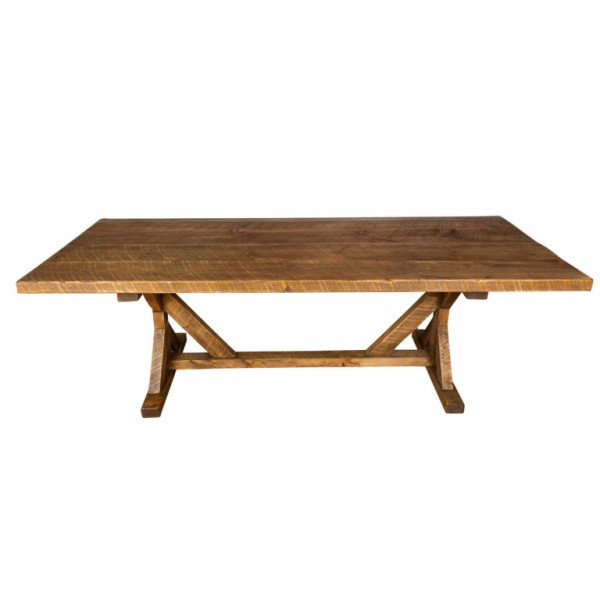 Industrial Reclaimed Wood Farm Table Napa East