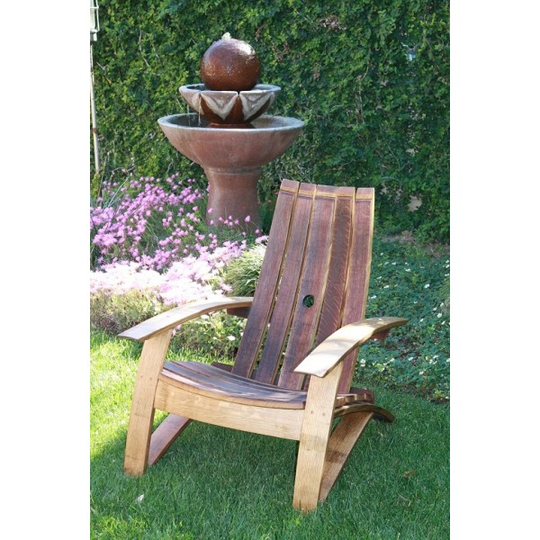 Wine Barrel Stave Classic Adirondack Chair Wine Country