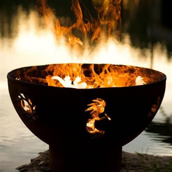 Kokopelli Outdoor Fire Pit Art