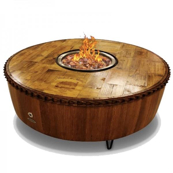 "60"" Moderna Wine Barrel Fire Pit Vin De Flame"