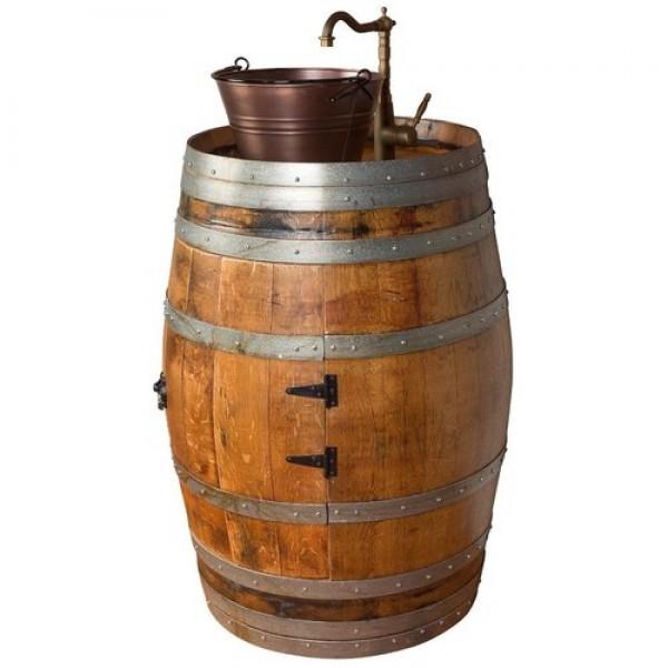 1131 Single Wine Barrel Copper Bucket Vessel Sink Napa East