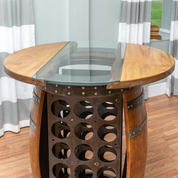 Wine Barrel Storage Table Napa East Wine Country Accents