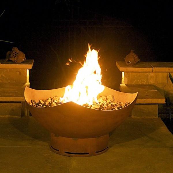 Manta Ray Gas Fire Pit Art