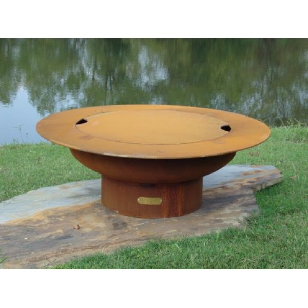 Saturn Gas Fire Pit Art - With Lid