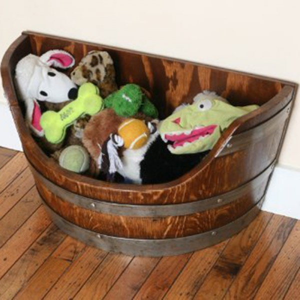 Wine Barrel Pet Toy Chest Wine Barrel Creations