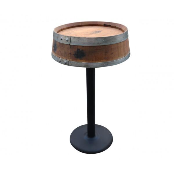 Wine Barrel Head Table Metal Base G